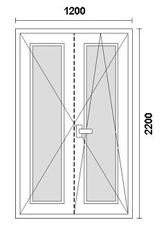 disegno porta in PVC